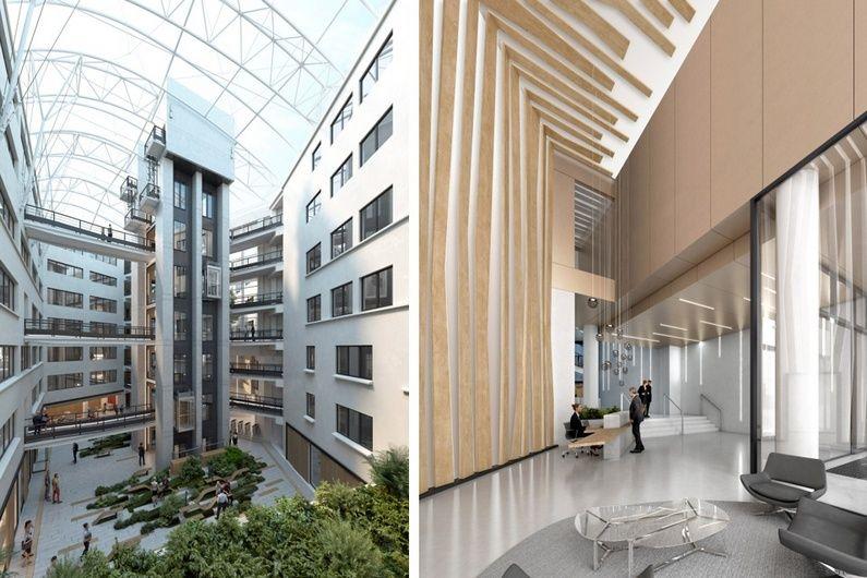 Bureaux 94 Gambetta Perspective Atrium+lobby