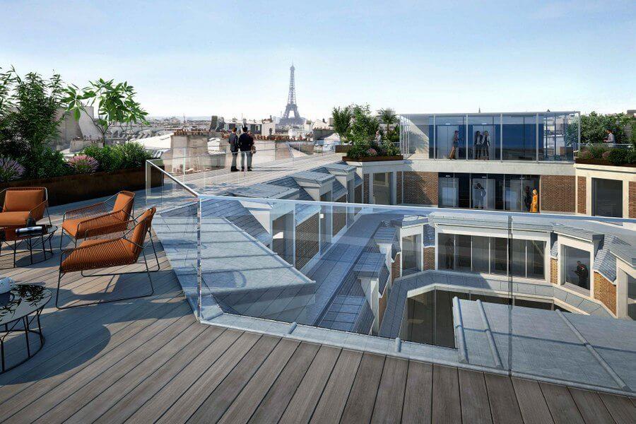 39 Colisée perspective toit